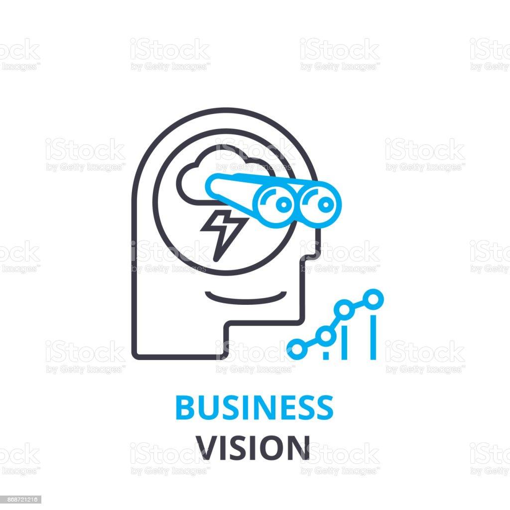 ビジネス ビジョン コンセプト アウトラインのアイコン線形符号細い線 ...