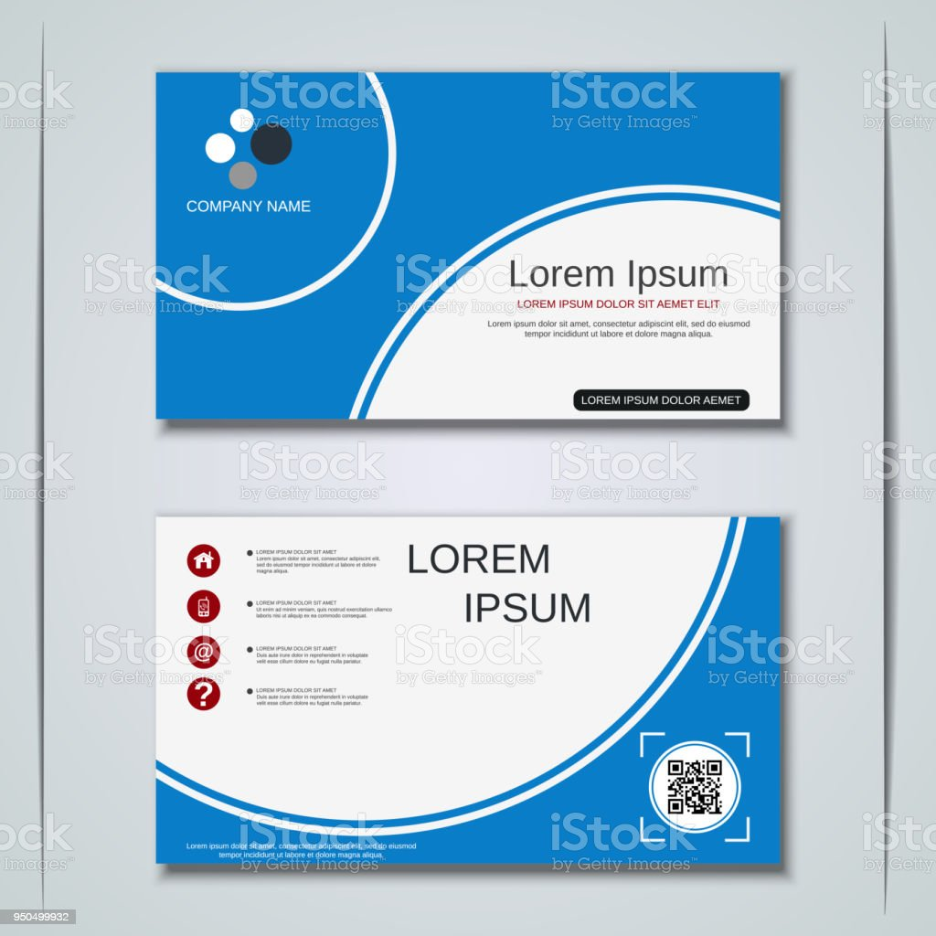 Business Visiting Card Vector Design Template Stock Vector Art ...