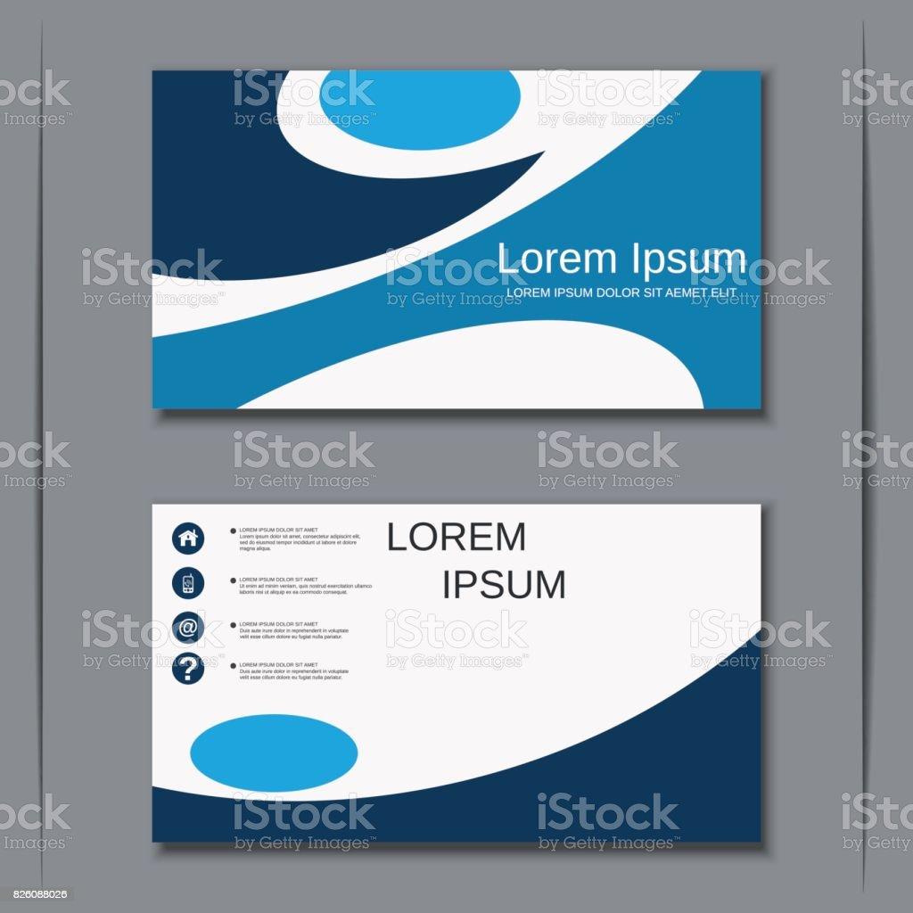Business Visiting Card Vector Template stock vector art 826088026 ...