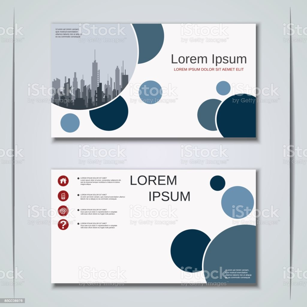 Business Visiting Card Vector Template stock vector art 850228976 ...