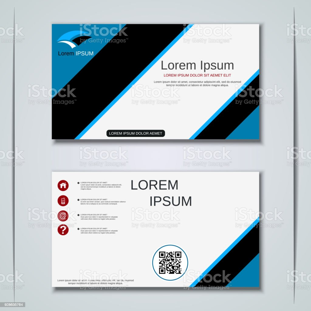 Business Visiting Card Vector Template Stock Vector Art & More ...