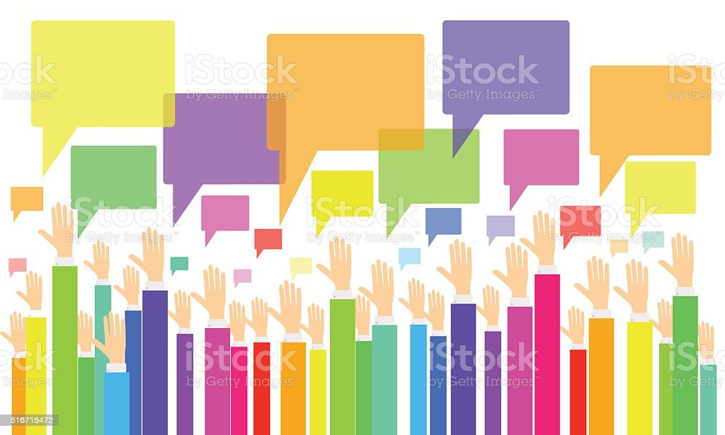 business vote.business opinion and comment .business people brainstorming vector art illustration