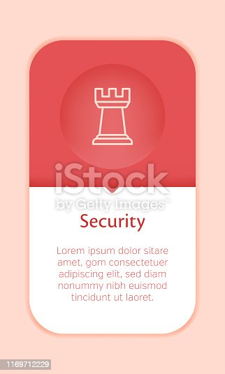 Business Web Banner Template with Single Security Icon