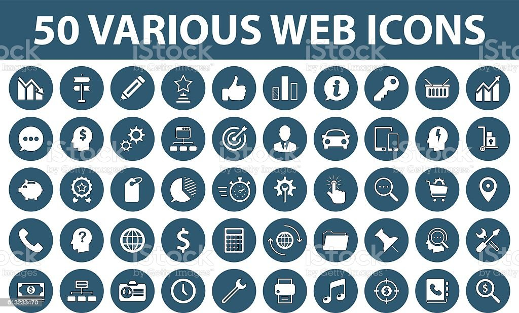 Business Web Icons vector art illustration