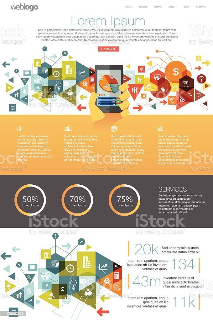 business website design layout. vector art illustration