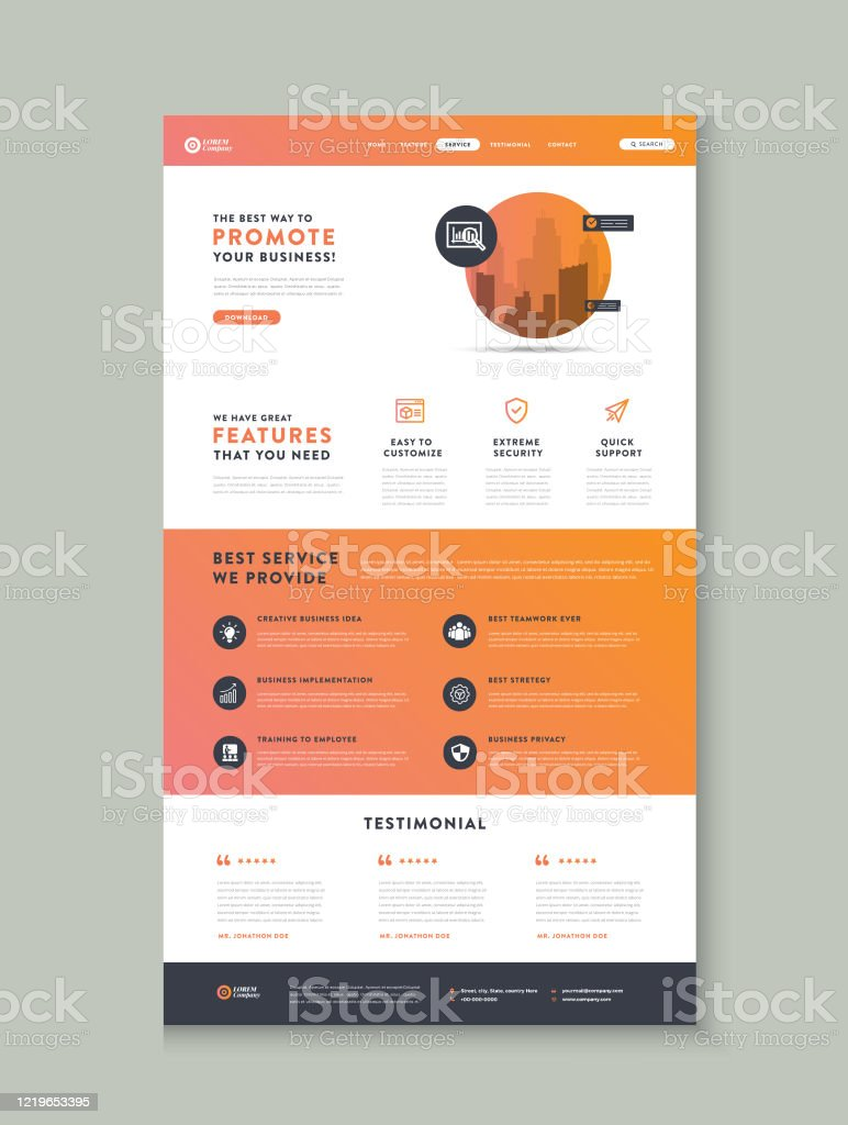 Business Website Landing Page App Landing Page Web User Interface Design Web Wireframe Template Stock Illustration Download Image Now Istock
