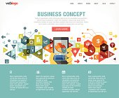 Business website design layout. You can easily make a website using this layout that is perfectly measured.