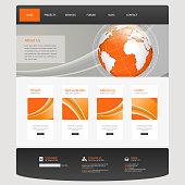 Business  Website Template Vector Illustration,