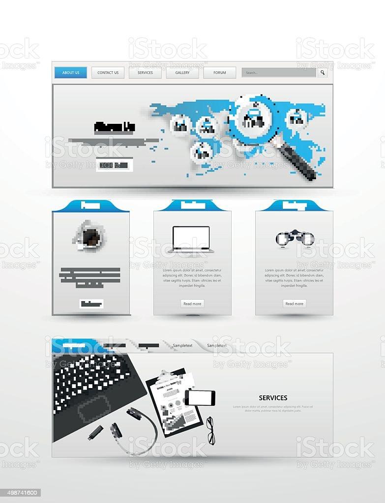5cf57b9cf930e Plantilla de Diseño de sitio web de negocios ilustración de plantilla de  diseño de sitio web
