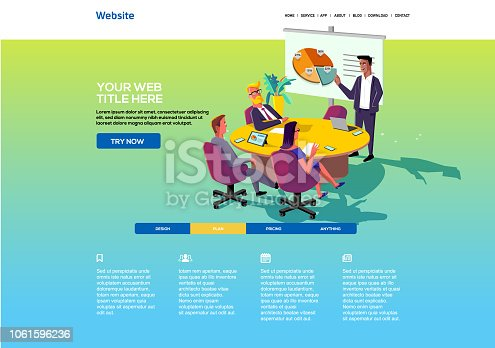 istock Business Website template 1061596236