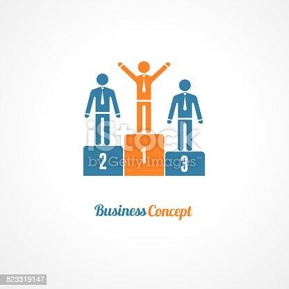 Winners Podium Symbol Vector Illustration. Business concept.