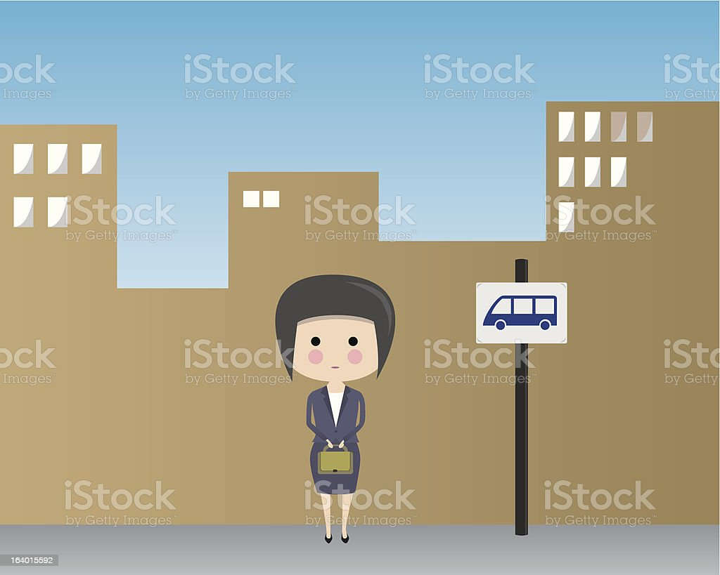 Business woman at bus station royalty-free business woman at bus station stock vector art & more images of adult