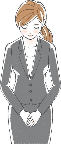 ビジネス女性ボー - 受付係点のイラスト素材/クリップアート素材/マンガ素材/アイコン素材