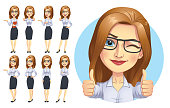 istock Business Woman Character Set 1197753495