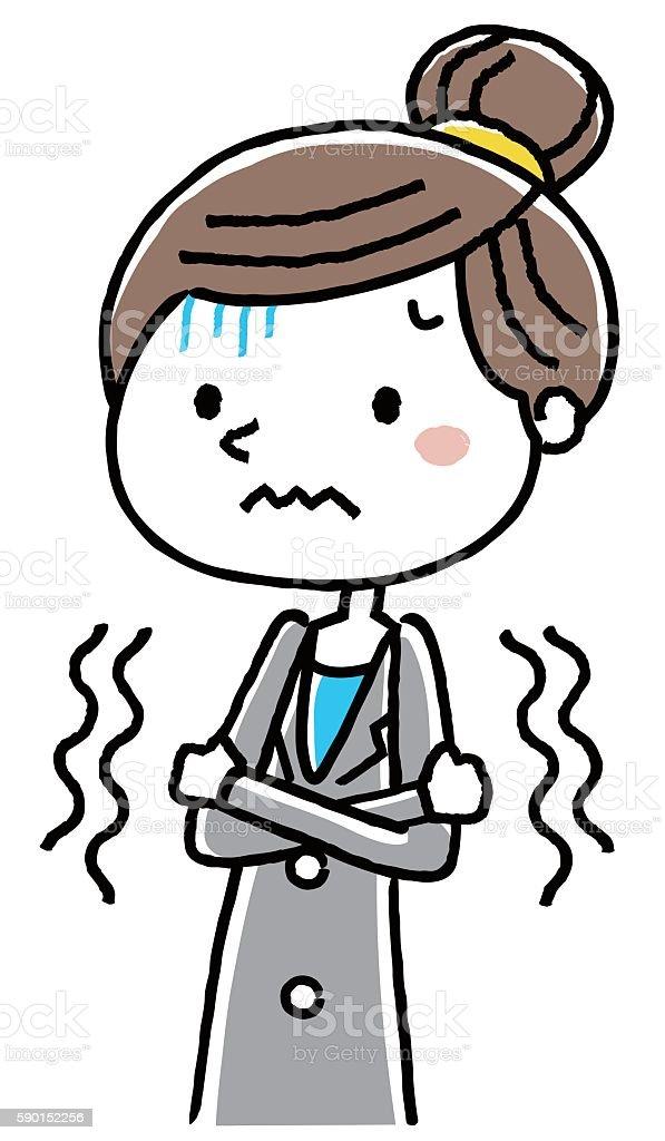 Business Woman: chills vector art illustration