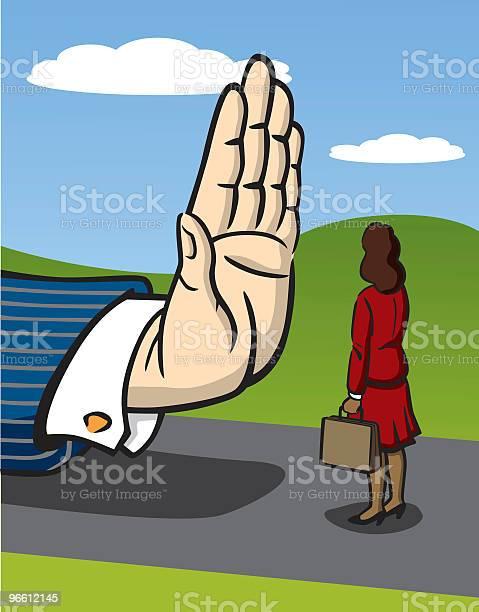 Business Woman Facing Racism-vektorgrafik och fler bilder på Affärskvinna