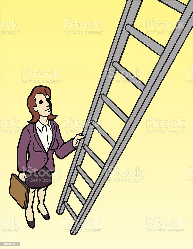 Business Woman Going Up the Ladder royalty-free business woman going up the ladder stock vector art & more images of adult