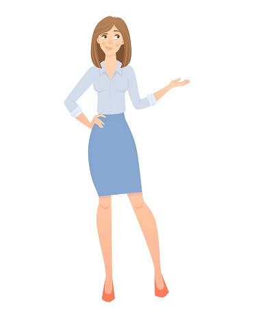 ビジネス女性が分離されましたビジネス服で美しい女性ベクトル図 - イラストレーションのベクターアート素材や画像を多数ご用意