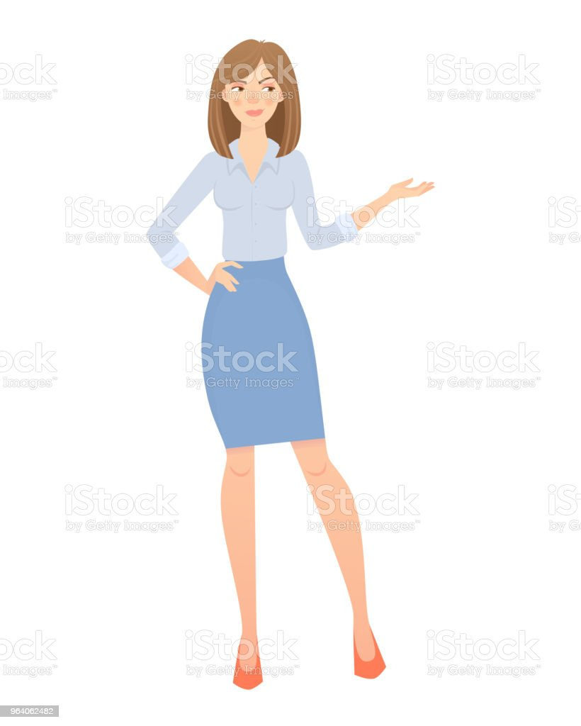 Business woman isolated. Beautiful woman in business clothes. Vector illustration - Royalty-free Adult stock vector