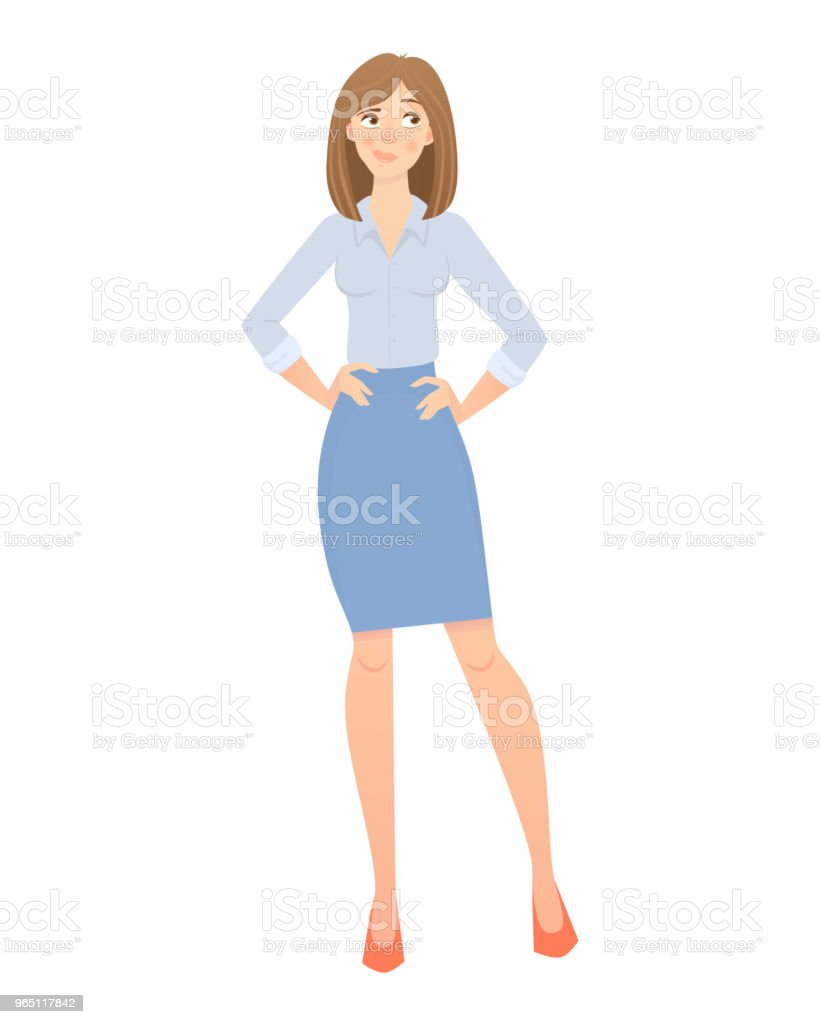 Business woman isolated. Beautiful woman in business clothes. Vector illustration business woman isolated beautiful woman in business clothes vector illustration - stockowe grafiki wektorowe i więcej obrazów biuro royalty-free