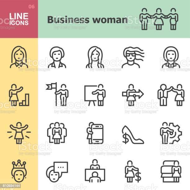 Business woman line icons vector id810934144?b=1&k=6&m=810934144&s=612x612&h=u vncyhoj0qur fcsqqmtwyojcztie7ccut2uexc8lk=
