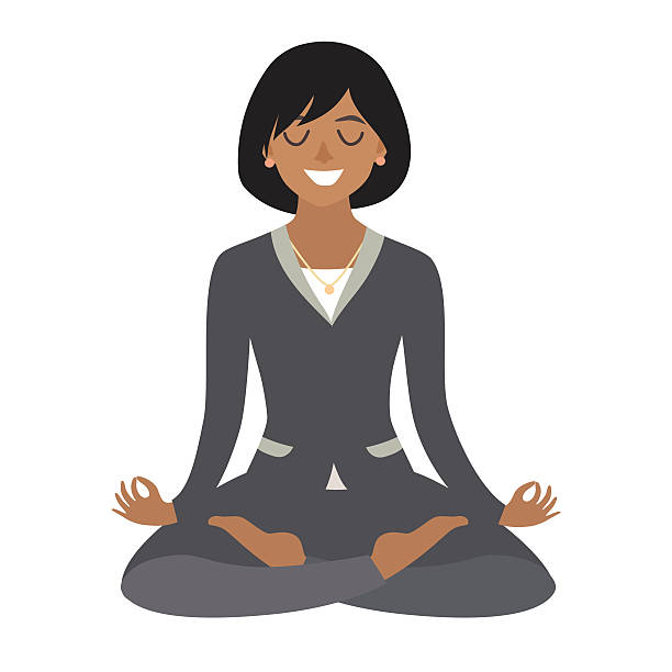 Royalty Free African American Meditation Clip Art, Vector ...