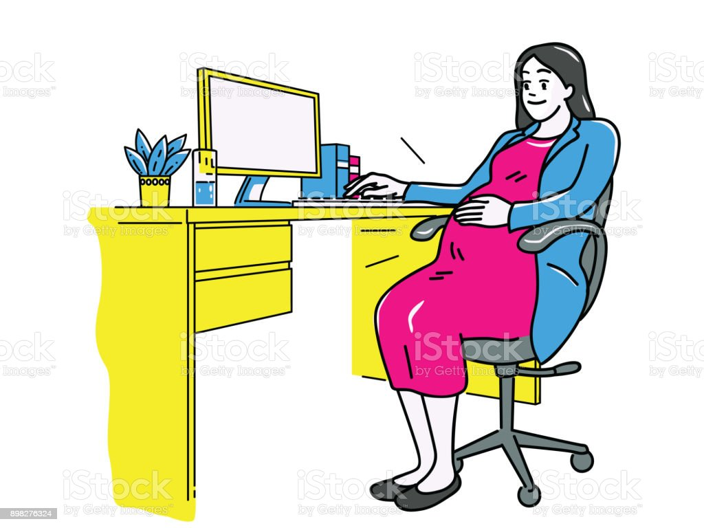 Grossesse femme d'affaires - Illustration vectorielle