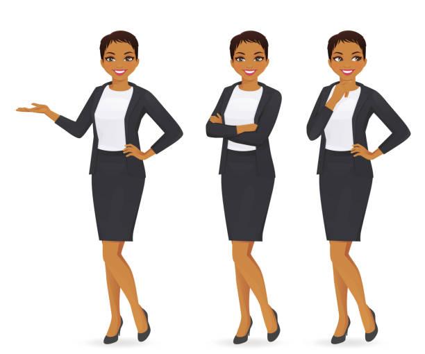 illustrazioni stock, clip art, cartoni animati e icone di tendenza di business woman set - business woman