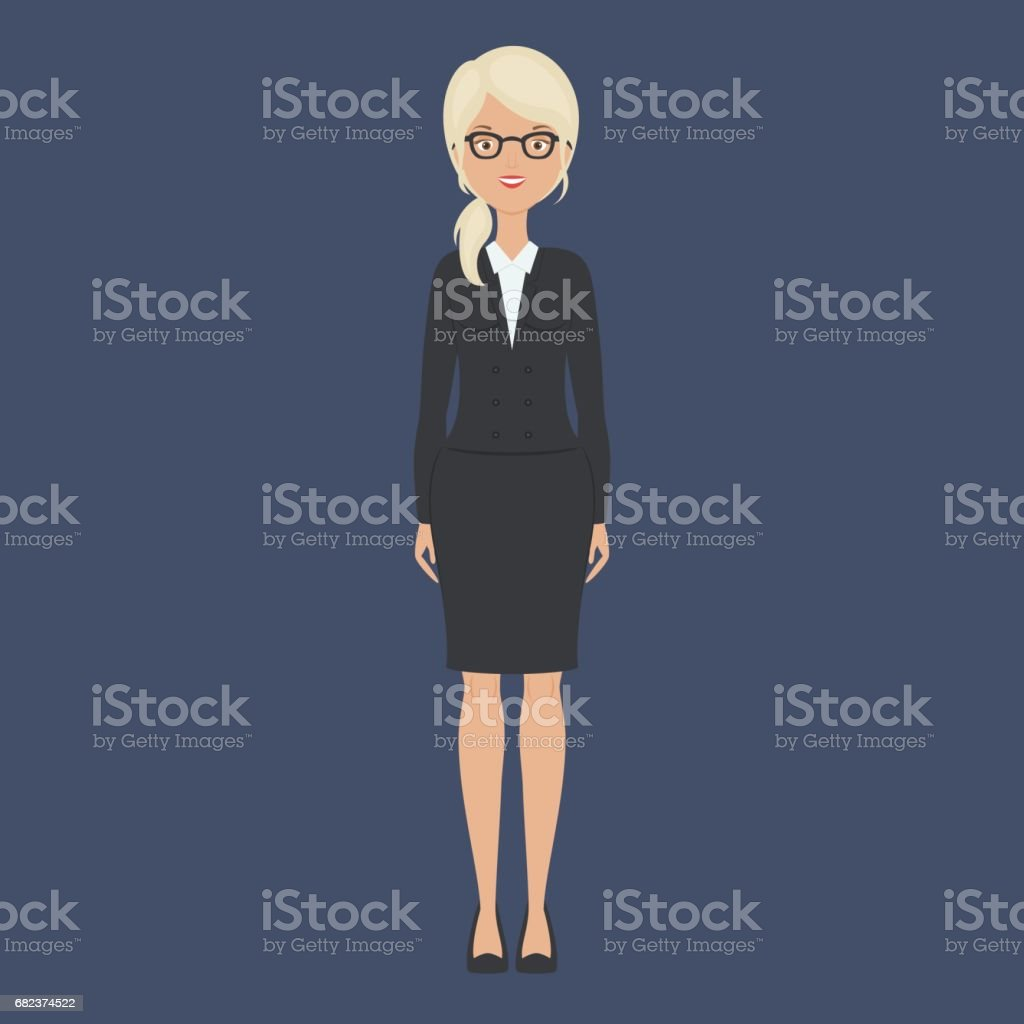 Business woman staying alone royalty-free business woman staying alone stock vector art & more images of adult
