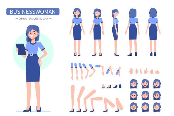 stockillustraties, clipart, cartoons en iconen met zakenvrouw - menselijke ledematen