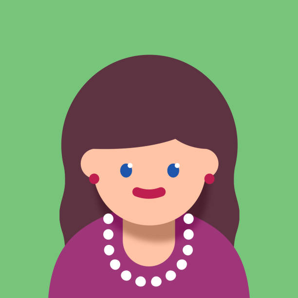 business woman - facial recognition stock illustrations