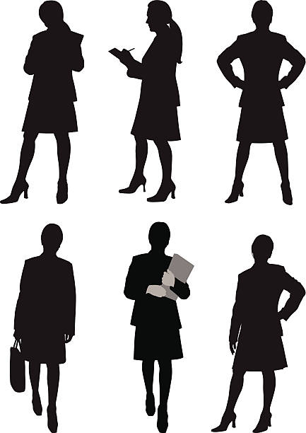 business frau - chefin stock-grafiken, -clipart, -cartoons und -symbole