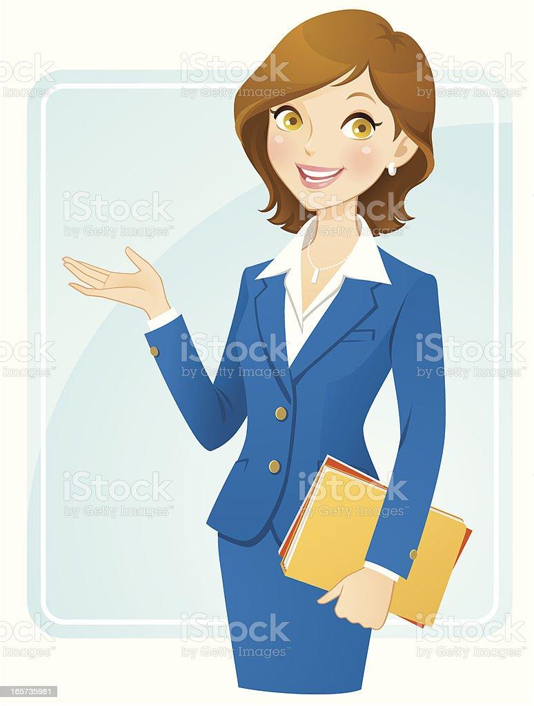 Mujer de negocios - ilustración de arte vectorial