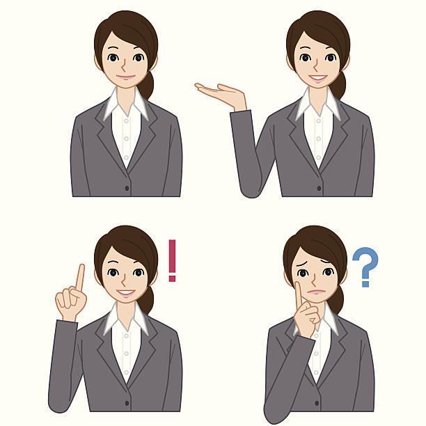 ビジネスの女性 - 受付係点のイラスト素材/クリップアート素材/マンガ素材/アイコン素材