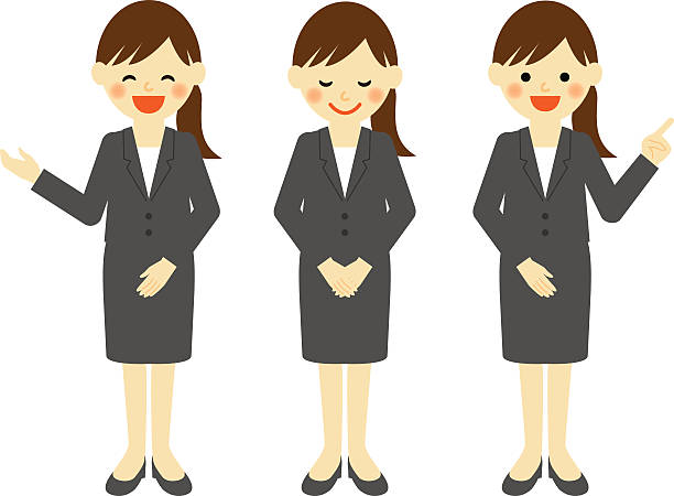 ビジネスの女性 - お礼点のイラスト素材/クリップアート素材/マンガ素材/アイコン素材