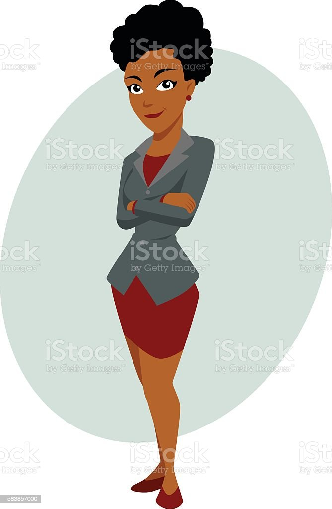 Business woman vector art illustration