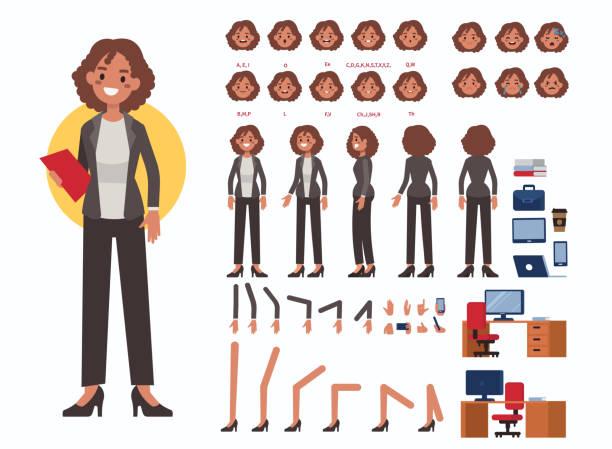 kobieta biznesu - grupa przedmiotów stock illustrations