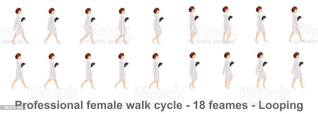 Ilustración de Ciclo De Caminar De La Mujer De Negocios y más banco ...
