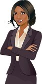 Pretty business woman with a darker skin tone.