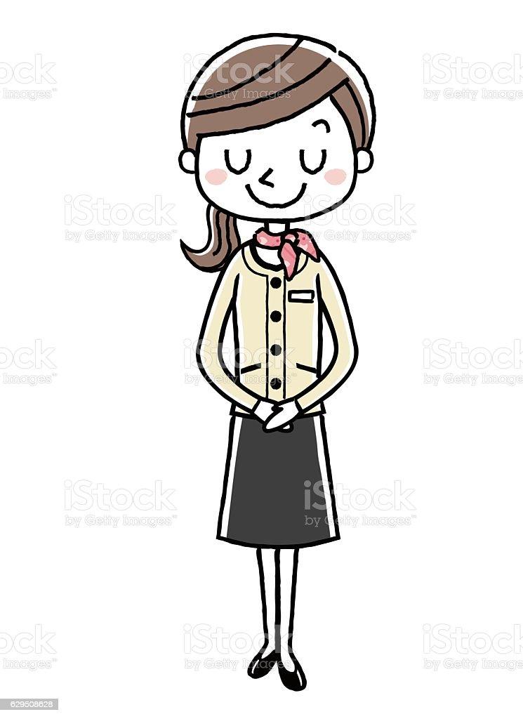 Business woman: women, bowing ベクターアートイラスト