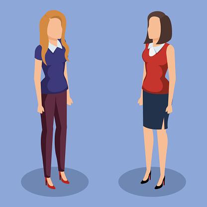 Företag Kvinnor Isometrisk Avatarer-vektorgrafik och fler bilder på Affärsmänniska