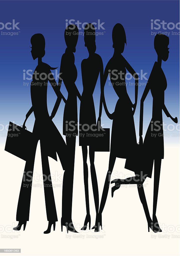 Business Women royalty-free business women stock vector art & more images of adult