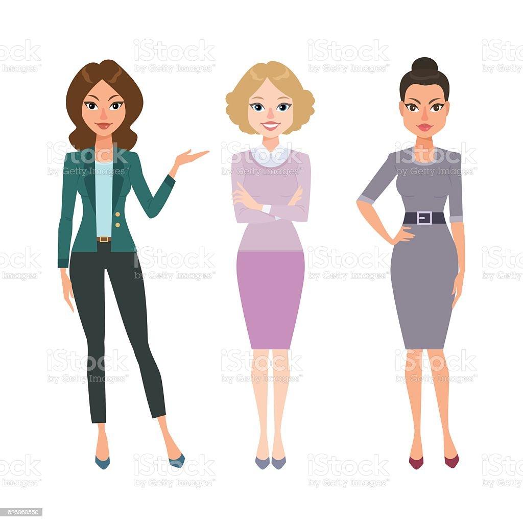 Business women vector art illustration