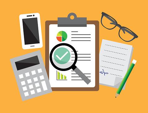 Business Work Desk - Immagini vettoriali stock e altre immagini di Affari