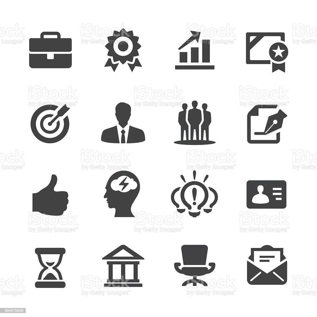 Business Work Icons - Acme Series - ilustração de arte em vetor