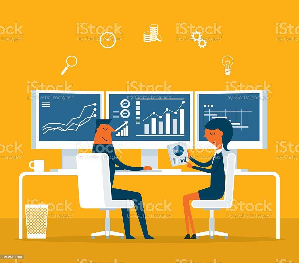 Business-Arbeit – Vektorgrafik