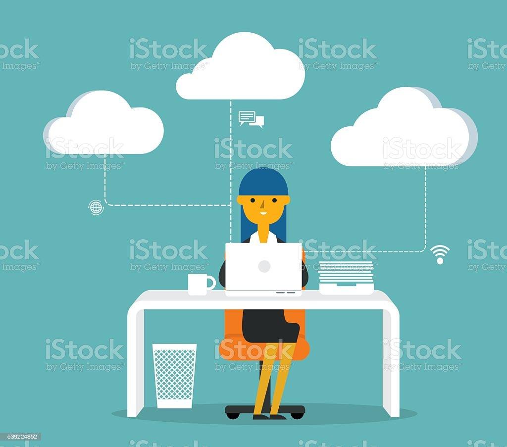 Business Work vector art illustration