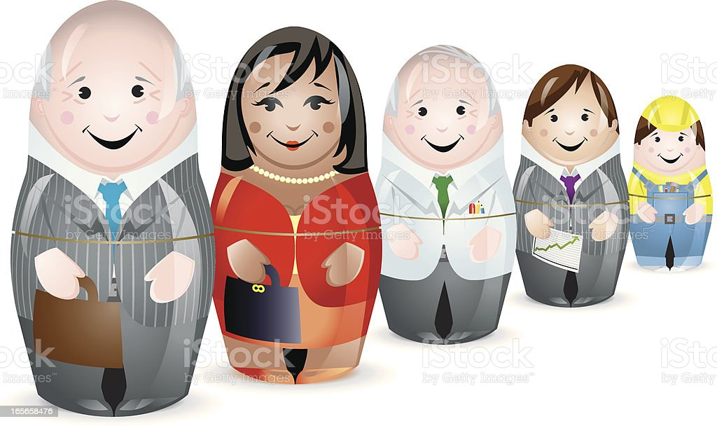 Business workforce Multiracial Team vector art illustration