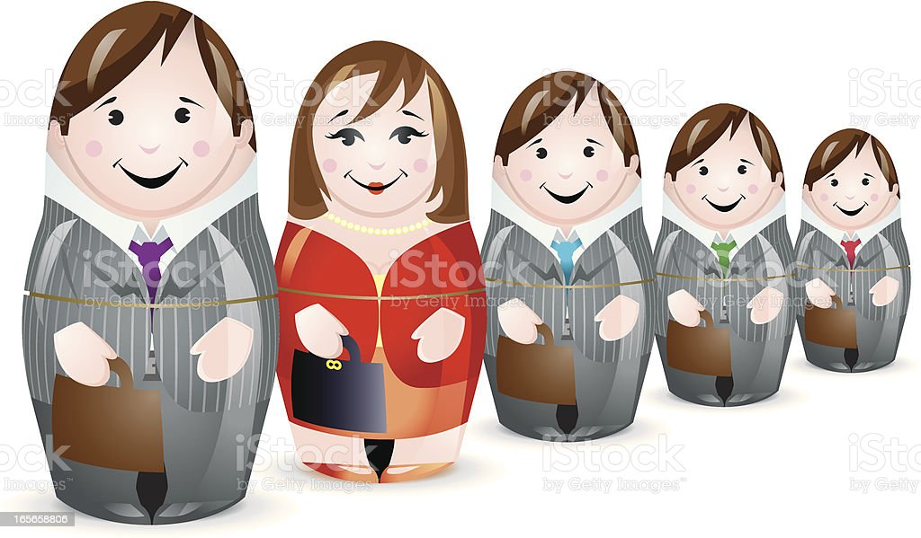 Business workforce stand out from the crowd vector art illustration