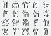 istock Business Working Human Action Line Icons 815528002